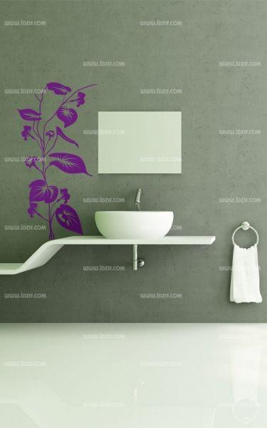 Stickers salle de bains douche mod le rose rouge bubbles - Stickers deco salle de bain ...