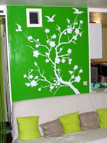 Stickers décoratif Branche japonaise