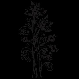 Le stickers dessin de fleur fil vous permettra de décorer un support (mur,  meuble