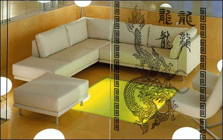 Le stickers dragon et écriture chinoise pour une décoration ethnique et dépaysante