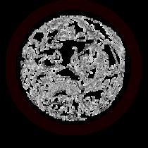 Le stickers dragon ornement asie en noir pour une décoration exotique