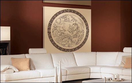 Le stickers dragon ornement asie pour une décoration ethnique et dépaysante