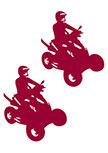 Stickers duo de quads