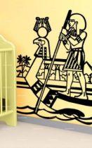 Stickers égyptien en barque