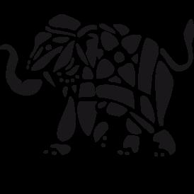 Le stickers éléphant afrique tâches en noir pour une décoration exotique
