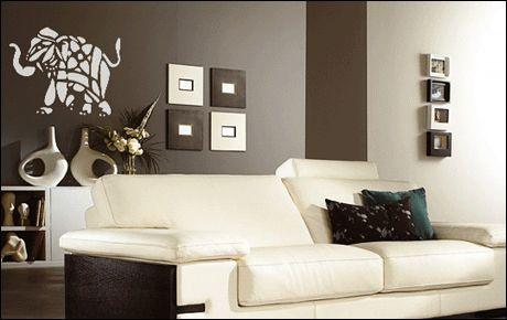 Le stickers éléphant afrique tâches pour une décoration ethnique et dépaysante