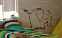 Stickers éléphant pour chambre de bébé