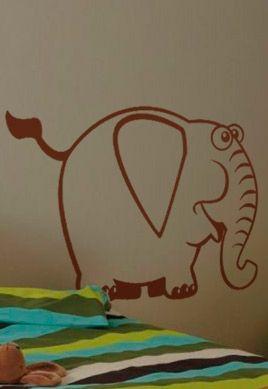 Stickers l phant pour chambre de b b for Stickers elephant chambre bebe