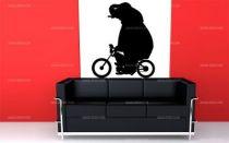 Stickers éléphant sur une moto
