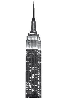 stickers Empire state building en gris.