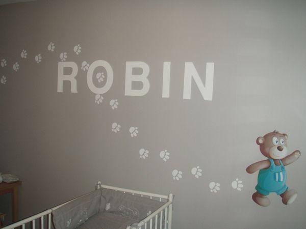 Stickers empreintes d\'ourson pour décorer la chambre de votre enfant en vente sur Idzif.com