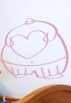 stickers muraux igor et son coeur