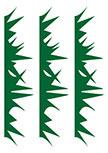 stickers enfants herbes. Planche de 3 stickers herbes découpées à la forme dans vinyle de couleur unie.