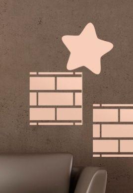 Stickers étoile magique et brique