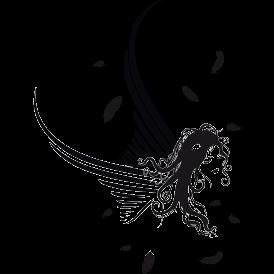 Le stickers fée ailes en noir pour décorer l\'intérieur sur le thème des fées