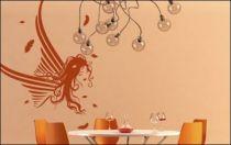 Le stickers fée ailes pour décorer l\'intérieur sur le thème des fées