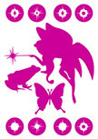 Stickers fée et prince charmant