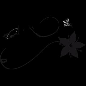 Le stickers fée flute musique en noir pour décorer l\'intérieur sur le thème des fées