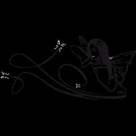 Le stickers fée mélancolique en noir pour décorer l\'intérieur sur le thème des fées