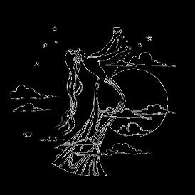 Le stickers fée pleine lune en noir pour décorer l\'intérieur sur le thème des fées