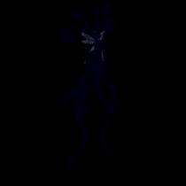 Le stickers fée à la traîne en noir pour décorer l\'intérieur sur le thème des fées
