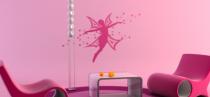 Le stickers fée en vol pour décorer l\'intérieur sur le thème des fées