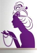 Stickers femme aux perles