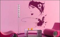 Le stickers femme esquisse portrait pour décorer l\'intérieur