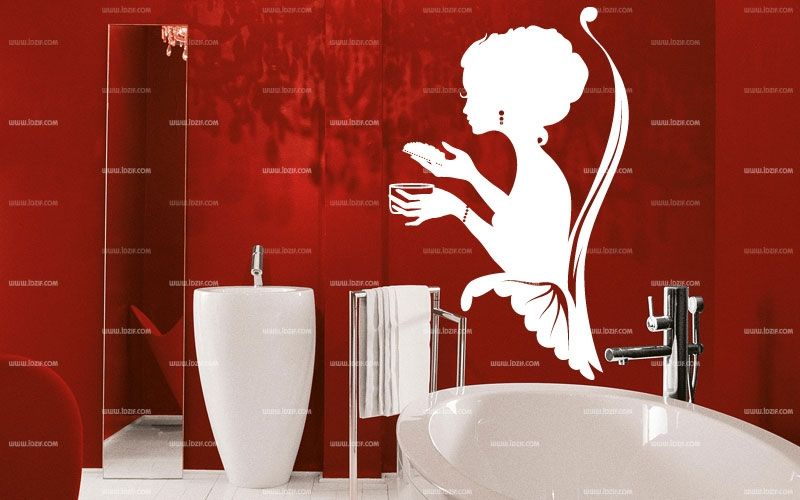 stickers femme salle de bain