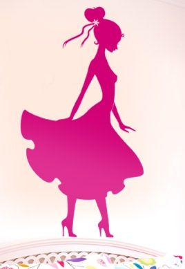 Stickers femme silhouette