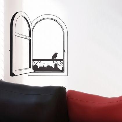 Stickers Fenêtre avec vue