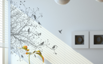 Le stickers feuillage pour un d�cor mural sur le th�me de la nature