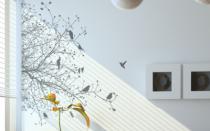Le stickers feuillage pour un décor mural sur le thème de la nature