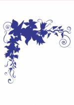 """Stickers feuilles. Stickers feuilles \""""Roccoco Angula\"""" découpé à la forme dans vinyle de couleur uni, idéal pour décorer vos angles de murs!"""