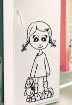 stickers doudou fillette