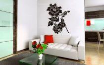 stickers fleur. Charlotte, un stickers fleur découpé à la forme dans un vinyle adhésif de couleur unie. A vous de choisir la taille de votre stickers fleur pour personnaliser votre décoration murale.