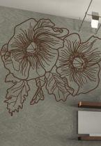 stickers muraux fleurs trait