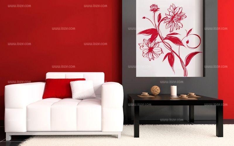 stickers motif fleur