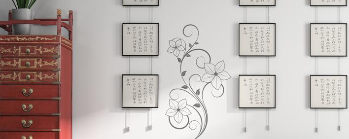 Le stickers fleur raffinée pour décorer l\'intérieur