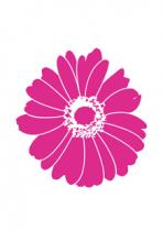 Stickers fleur rose