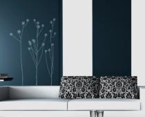 Le stickers fleur trois tiges pour un décor mural sur le thème de la nature