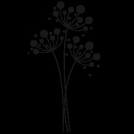 Le stickers fleurettes et ronds vous permettra de décorer un support (mur, meuble) avec un stickers nature