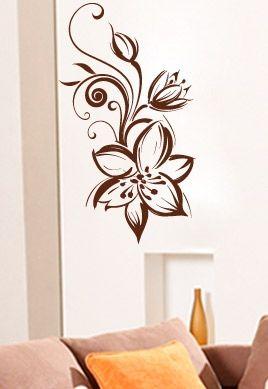 stickers motifs fleurs