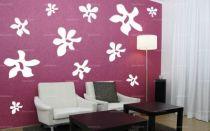 """Sticker \""""planche fleurs\"""" découpé à la forme dans vinyle de couleur unie. Ce visuel habillera vos murs de manières originale. Création Maltin"""