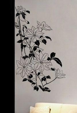 stickers fleurs murales. Black Bedroom Furniture Sets. Home Design Ideas