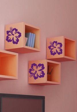 Stickers fleurs.