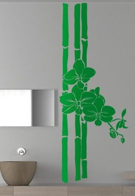 stickers mural bambou