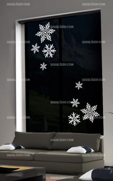 stickers flocons des neiges