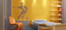 Le stickers football esquisse pour décorer sur le thème du sport