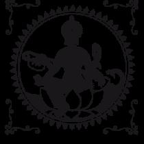 Le stickers fresque indienne en noir pour une décoration exotique